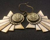 Hypoallergenic earrings Art Deco jewelry Art Deco Earrings Vintage earrings Vintage jewelry 1920s earrings NIOBIUM earrings Clip on earrings