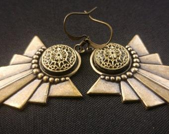 Hypoallergenic earrings Art Deco jewelry Art Deco Earrings Vintage earrings Vintage jewelry 1920s earrings Niobium earrings Hypo allergenic