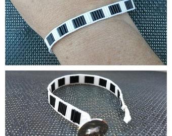 """Bracelet Collection """"Buren"""" black/white"""