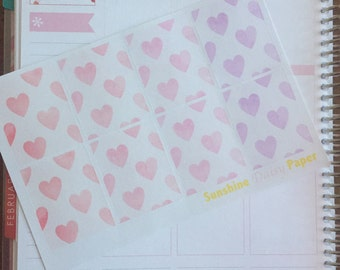 Watercolor Hearts Collection Erin Condren Decorative Full Box planner stickers!