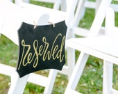ONE SET LEFT ** 2 Reserved Wedding Signs - Wedding, parties, Bridal Shower, Wooden Signs