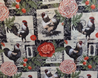 French Rooster Floral Patch by Suzanne Nicoll, Legacy Studio