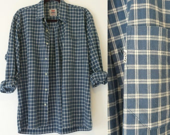 Vintage Blue Plaid Lewis Shirt