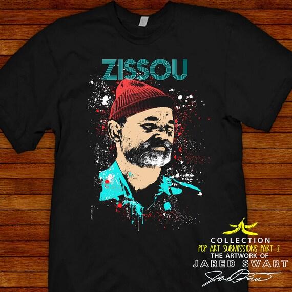 Steve Zissou Life Aquatic Designer T-shirt Artwork Of Jared