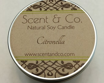 Citronella || Soy Candle || Wood Wick    8oz tin