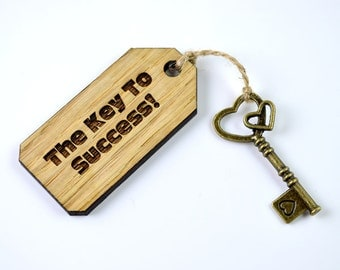 Personalised - The Key To Success - New Job Graduation Gift
