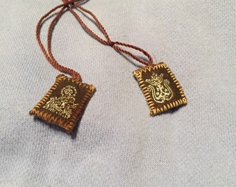 Antique, vintage, fabric, brown, book mark, string, bible, religious,collectible bible bookmark