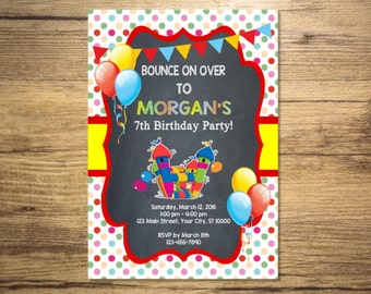Bounce House Invitation, Printable Bounce Party Birthday Party Invitation, Jump House Invitations, Digital or Printed