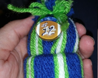 Seahawks 12th Man inspired ornaments