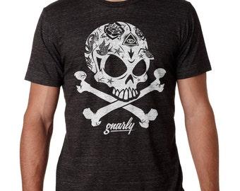 Gnarly Logo Shirt Skull and Crossbones