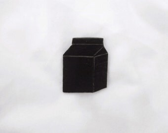 Black Milk Carton Pin