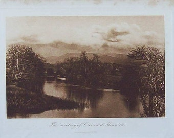 Engraving of the Cree and Minnck