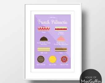 Know Your French Pâtisserie print (Made to order)