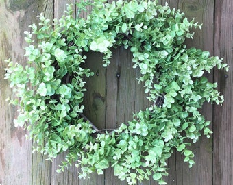Summer Wreath, Eucalyptus Wreath, Natural Wreath, Summer Door Wreath, Rustic Wreath, Front Door Wreath, Green Wreath, Home Decor