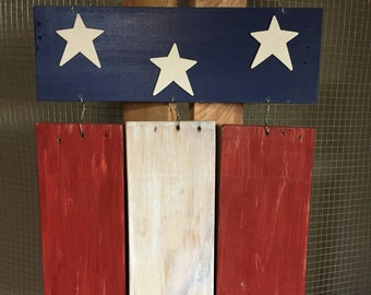 Wooden Flag Chimes
