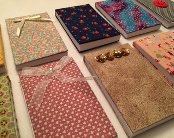 Fabric-Covered Notepads - Small - FREE U.S. SHIPPING