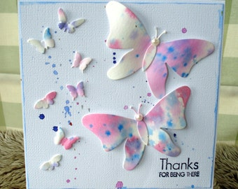 Thank you card/Butterfly card