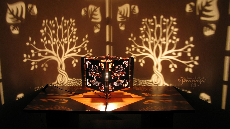 Shadow Lamps decorative lasercut wood tree of life shadow lamp handmade