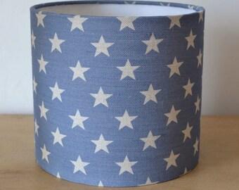 Sarah Hardaker Blue Star 20cm Drum Lampshade
