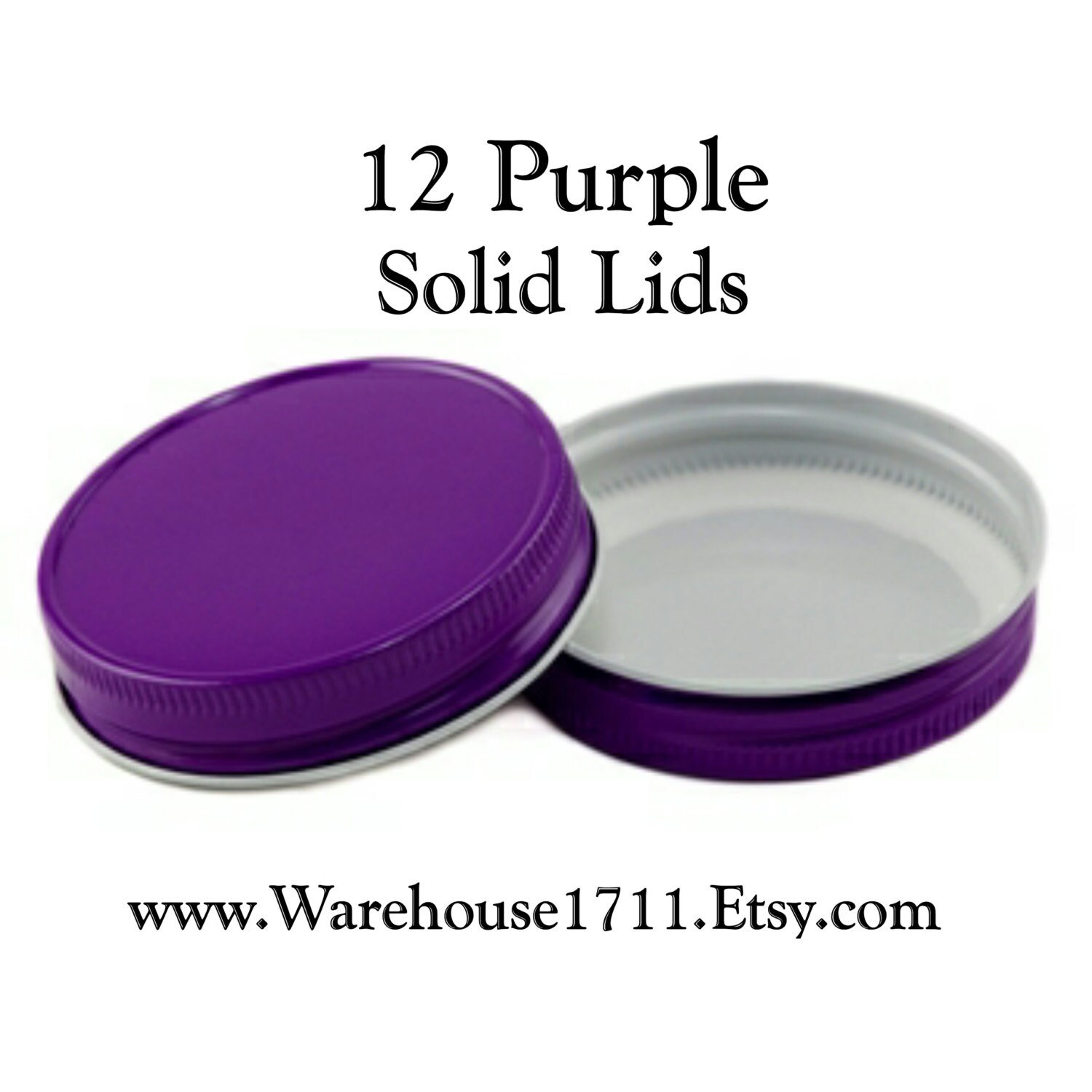 mason jar lids 12 solid lids purple party jar lids