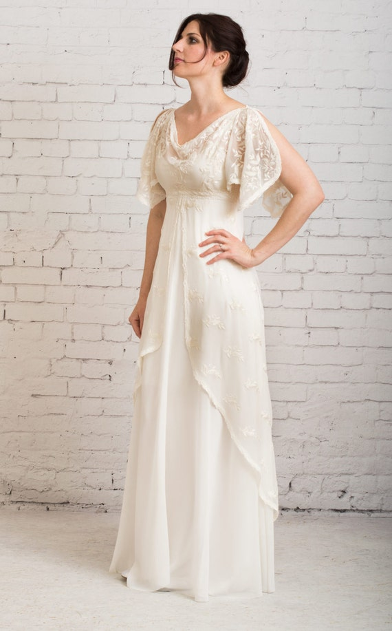 Casual wedding dress simple wedding dress rustic wedding for Casual informal wedding dress