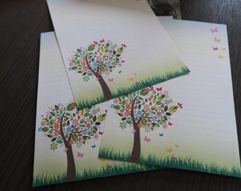 Tree with butterflies - A5 - 20 sheets