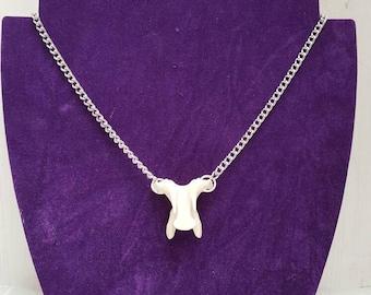 Real animal bone vertebrae necklace, taxidermy