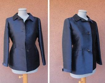 Jil Sander 100% Silk Blazer Jacket - Vintage Jil Sander Silk Tuxedo Blazer  -Size S/M