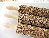 SUMMER SALE 3 ANY pattern Rolling Pin Set. Lazer engraved embossing rolling pins for homemade cookies. Choose your patterns! Gift for mother