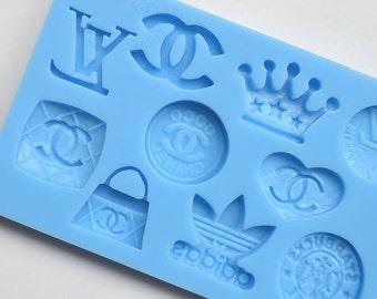 Famous Brands Logo Silicone Fondant Mold