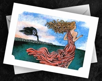 Windswept - 7x5 Folded Greetings Card