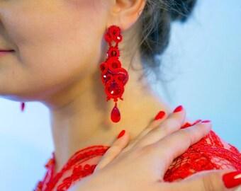 SOUTACHE LONG EARRINGS Dangle earrings