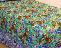 Michael Miller Jungle Animals Fabric - By the Yard 45 inches wide #CX2959-MULT-D