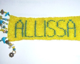 Bookmarks Beaded and Personalized