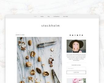 Stockholm - Wordpress - Wordpress Theme — RESPONSIVE Wordpress Blog Theme — Self-hosted Wordpress Blog Theme — Feminine Website