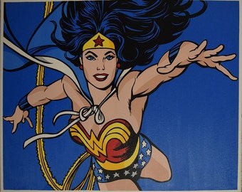 Wonder Woman-pop art canvas hand painted