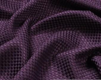 Fabric rayon cotton matt aubergine upholstery 40.000 Martindale