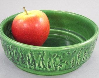 Pottery bowl, ceramic bowl, fruit bowl, plate grün / Jasba / West German Pottery / Mid century /