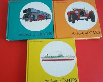 Vintage transportation children's books