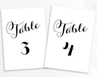 Number Names Worksheets number 1 template printable : Charcoal Grey Printable Laurel Table Number by GraceDesignsDIY