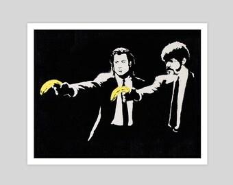 Peel Fiction By Banksy Art Print