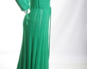 40% Off Making A Chic Impression Crochet Maxi Dress