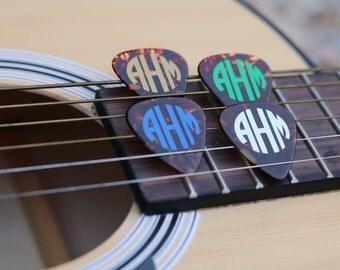 Monogrammed Guitar Picks- ANY COLOR MONOGRAM