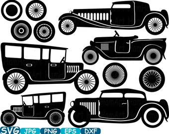 Svg files old car | Etsy