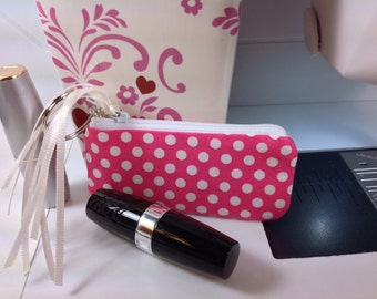 Lipstick Pouch, Essential Oil Case, Small Zippered Bag, Lip Balm Case, Earphones, Small Coin Pouch
