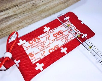 """5.5"""" x  2.5"""" First Aid Pouch, Adhesive Bandage Bag, Travel Size First Aid Zipper Bag, Ripstop Lining"""
