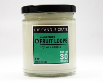 Fruit Loops 8 Ounce Scented Soy Wax Candle