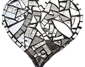 Mosaic  Heart - Mirrored