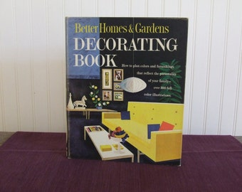 Better Homes & Gardens Decorating Book, Vintage Book, 1961