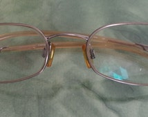 Emporio Armani Wire Rim Eyeglasses Antique silver Rectangular Sunglasses Sleek Modernist Logo 216 1228 size 51-18 Unisex RX glasses EA